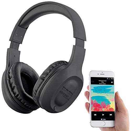 auvisio Terminado Oído Auricular: Auriculares supraaurales con Bluetooth 5, MP3, FM, Paquete de baterías, Autoconectar, 22 Horas (Auricular En Oído)