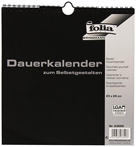 Folia knutsel-permanente kalender / 23690 23x24cm zwart/zilver