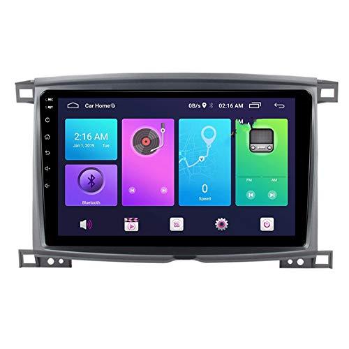 Nav Android 9.0 Car Stereo Double DIN para Toyota Land CRUCER 100 2002-2005 Navegación GPS Unidad Principal de 10 Pulgadas Reproductor Multimedia MP5 Receptor de Video y Radio con 4G WiFi DSP Carplay
