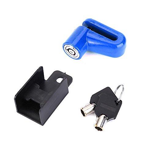 VGEBY1 Blocco Freno Bici a Disco, 3 Colori antifurto in Metallo Dispositivo di Sicurezza per Bici con Chiavi(Blu)