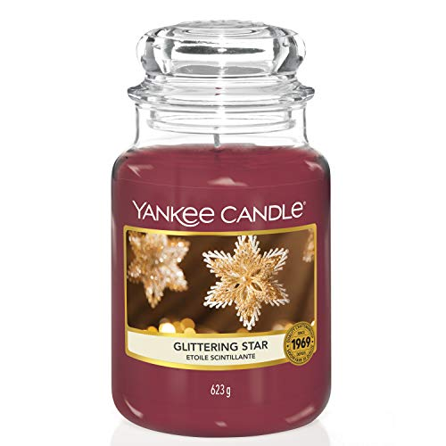 Yankee Candle Duftkerze im Glas (groß) | Glittering Star | Brenndauer bis zu 150 Stunden
