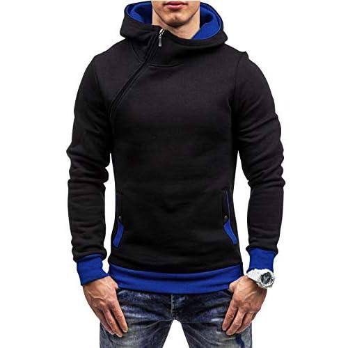 Mens Hoodies Zip Up Hooded Sweatshirt with Side Pockets Hoody Pullover