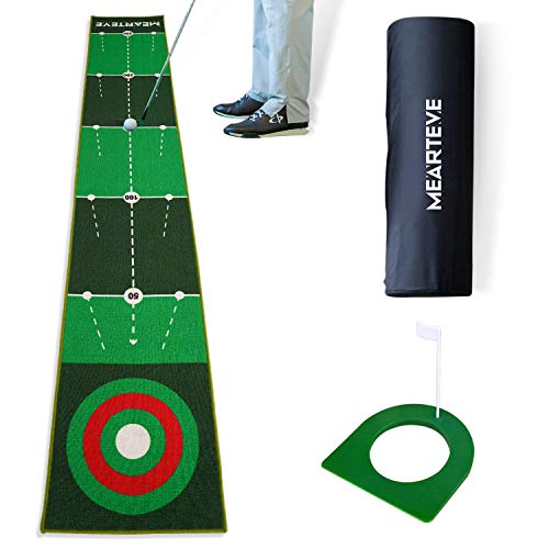 MOLANEPHY Golf Putting Mat, Golf Practice Putting Green Mat for Indoor Outdoor, Golf Training Aid 1.64 x 9.84ft