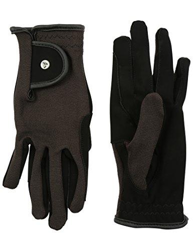 RTS Damen REIT Handschuhe, Schwarz, XL