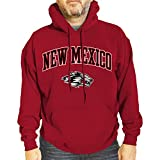Campus Colors NCAA Adult Arch & Logo Gameday Hooded Sweatshirt (New Mexico Lobos - Red, XX-Large)