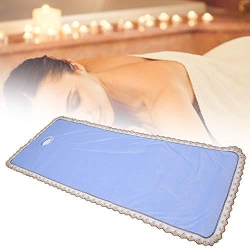 80 * 200cm spa massagetafel hoeslaken met gat, warm koraal fluweel verdikking schoonheidssalon massage massageblad massage bed sprei(Blauw)