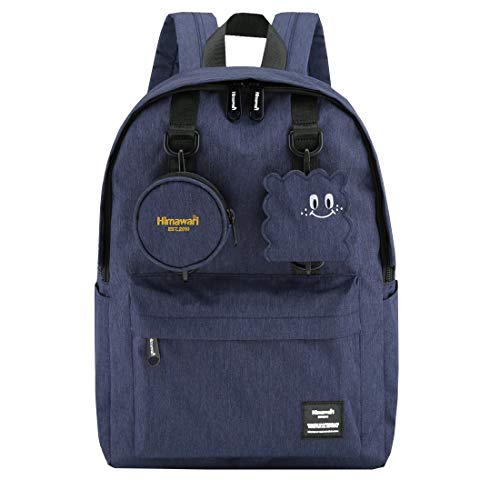 Himawari School Travel Backpack with Laptop Compartment, Waterproof Cute 15.6'' Notebook Bag Luggage for Boys Girls Adults, Casual Daypack,Blue