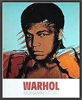 ポスター アンディ ウォーホル モハメド アリ 1977 額装品 ウッドベーシックフレーム(ブラック)