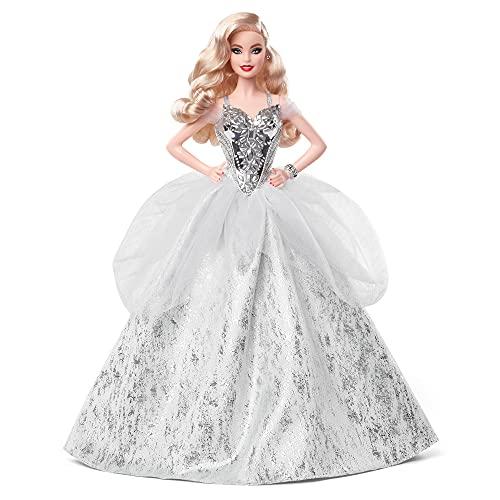 Barbie Signature Fiesta Muñeca de colección de juguete con ondas rubias y vestido de gala (Mattel GXL21)