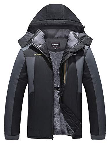 NREALY Jacket Women's Winter Lapel Slim Coat Trench Jacket Long Parka Overcoat Outwear(Wine Red, XL)