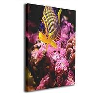 アートフレーム アートパネル 水中の世界 魚 現代壁の絵 壁掛け式の装飾画 壁アート 木製 インテリアアート 額縁なし ポスター 部屋飾り ウォールアート モダン 30x20cm