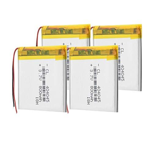 TTCPUYSA 3.7v 404045 800mah BateríAs Recargables De Iones De Litio Li-Po, Pueden para e-Book Led Light Power Bank 4pieces