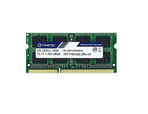 Timetec Hyni× IC 4 GBDDR3L 1600 MHz PC3L 12800 Non ECC Unbuffered 1.35 v CL11 2R×8 デュアル ランク 204 Pin SODIMM ラップトップ ノート ブック コンピューター メモリ Ram モジュールのアップグレード 4 GB