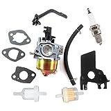 AISEN Carburetor for Powerhorse 4000 DF2200 DF4000 DFD4000 4000ES 208CC 6HP DJ170N Generator Insulator Gasket Fuel Filter Fuel Line Spark Plug