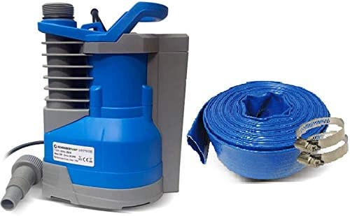 popular Schraiberpump Sump Pump for Clean Water 1/3hp w/built in automatic ON/OFF (with adjustable start heights) 1560GPH, 20'Head, discount Thermal 2021 Protector, Copper Winding INCLUDES 25ft OF PVC LAY FLAT HOSE sale