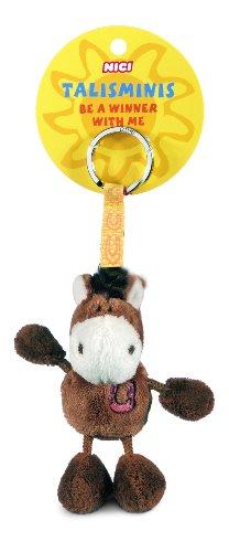 NICI 33685 - Pferd Beanbag Schlüsselanhänger Talismin 7 cm, braun