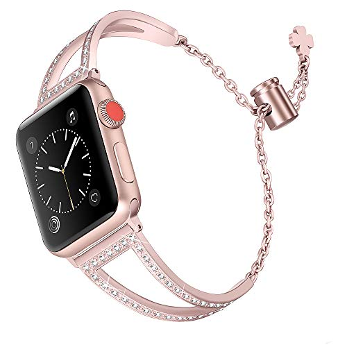 Secbolt Bling Bands Compatible with Apple Watch Band 42mm...
