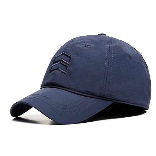 Gorra de béisbol de alta gama, material de secado rápido, gorra para exteriores, sombrero de gran tamaño, sombrero de sombrilla @ XL de gran tamaño 59-64CM_Dark blue - material de secado rápido