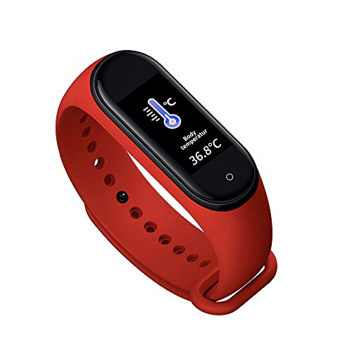 HITECHLIFE Reloj Inteligente Hombres Mujeres, Pulsera Inteligente Mt10 Termómetro Pulsera Monitor De Sueño Podómetro Rastreador De Ejercicios para Hombres Mujeres