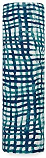 Aden and Anais Seaport, Net Silky Soft Bamboo Muslin Swaddle, Blue