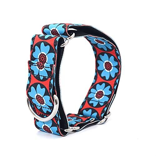 HYMD Collar Perro Perros Durables Collar de Perro de Nylon de Servicio Pesado 2.5 cm a 3,8 cm de Ancho. (Color : 03, Size : 26-38 CM)