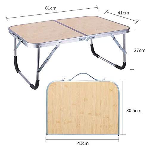 LJQLXJ Tables Pliantes Plateau de lit de Bureau de Lecture d'ordinateur Portable de Support de Table Portable réglable Pliable pour lit, Kaki foncé