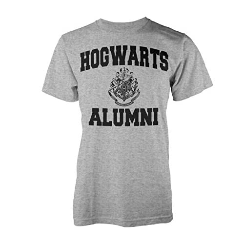 Playlogic International(World) Harry Potter Alumni T-Shirt, Grigio (Grey), S Uomo
