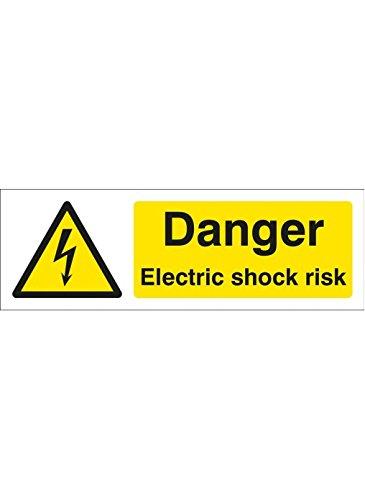 Caledonia Signs 14029M Señal de riesgo de impactos eléctrica, 600 mm x...