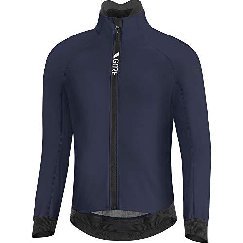 GORE WEAR Chaqueta térmica de ciclismo para hombre, C5, GORE-TEX INFINIUM, L, Azul marino
