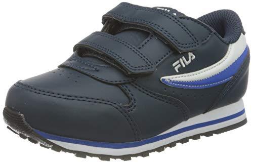 FILA Jungen Unisex Kinder Orbit Velcro Infants Sneaker, Dress Blue/Dazzling Blue, 23 EU