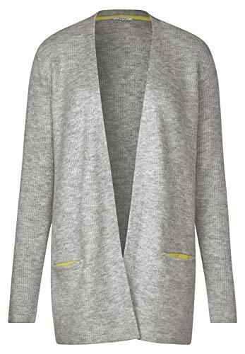 Cecil Damen 252924 Strickjacke, Grau (Mineral Grey Melange 10327), X-Large (Herstellergröße:XL)