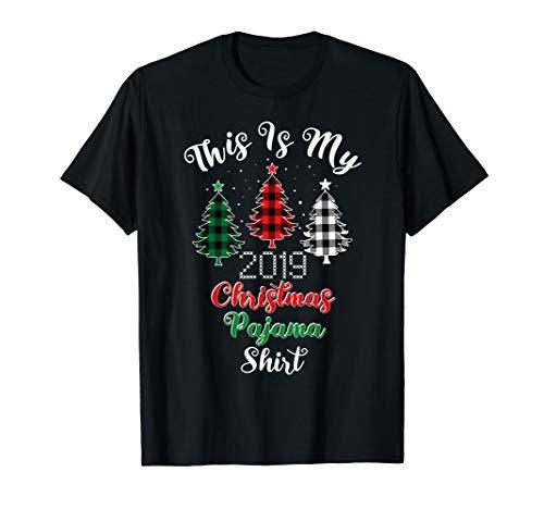 Dies ist meine Christmas Pyjama Buffalo Plaid Trees 2019 T-Shirt