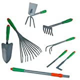 Haushalt International - Juego de herramientas de jardinería (con mango extensible)