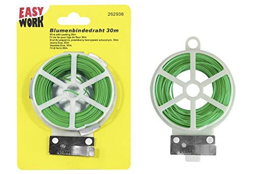 Unbekannt Easy Work 262938 Fil de Reliure à Fleurs Vert 30 m 28 x 28 x 18 cm