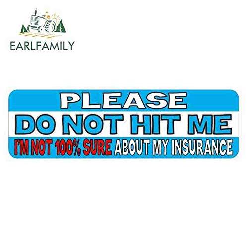 BJDKF 15cm x 4,5cm, denn ich Bin Nicht 100% sicher über Meine Versicherungs-Spaß-kreativen Aufkleber-Auto-Grafik-Abziehbild-Reparatur-Aufkleberart A