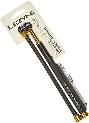 Lezyne mini pump digital shock drive, 350 PSI air pump, black gold, one size