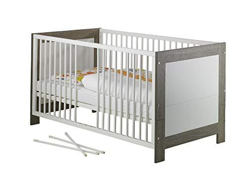 Geuther - Kinderbett Marlene, TÜV geprüft, made in Germany, inklusive Umbauseiten, 3 Schlupfsprossen, 3-fach höhenverstellbar, wenge-weiß