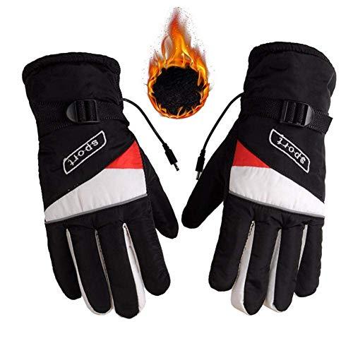 CSPone Motorrad Handschuh 12V, Beheizbare Handschuhe für Männer und Damen im Winter, Motorradhandschuhe, Outdoor Handschuhe Sport Wasserdicht