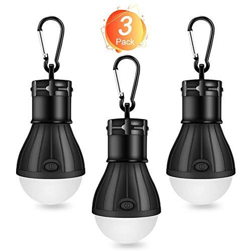 Winzwon Campinglampe, LED Camping Laterne, Tragbare Zeltlampe Laterne Glühbirne Set-Notlicht COB 150 Lumen Wasserdicht Camping Licht für Camping Abenteuer Angeln Garage Stromausfall (3 PACK)