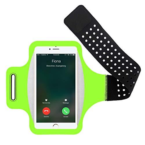 Brazalete Deportivo, Brazalete Running Armband Movil Soporte para iPhone XS MAX/XS/XR/8 Plus/7 Plus, Samsung S9 S8 S7 S6 Edge, Huawei P20 P10 P9 Lite Teléfono Debajo de 6.0 Pulgada
