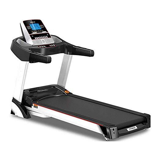 Plegable eléctrico cinta de correr, velocidad ajustable, pantalla LCD, Real-Time Streaming de vídeo de pantalla multifuncional Azul Caminar rueda de ardilla plegable for el Ministerio del Interior y,
