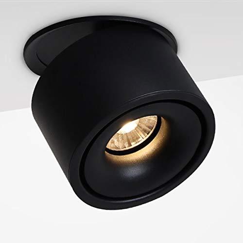 LANBOS 10W LED Einbaustrahler/LED downlight/LED Deckenleuchten Spot/LED Deckenstrahler Einbauleuchten/LED Strahler Deckenspots/3000K Warmweiß / 10 * 8CM/Falten Drehen Aufputz Deckenleuchte (Schwarz)