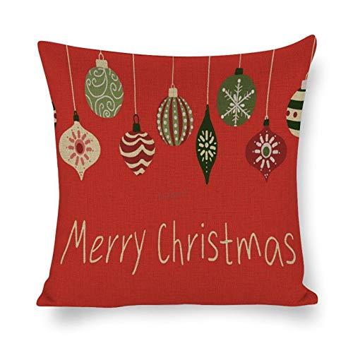 Lplpol Funda de almohada decorativa de lino y algodón, para sofá, cama, decoración del hogar, 45,7 x 45,7 cm, sao1941