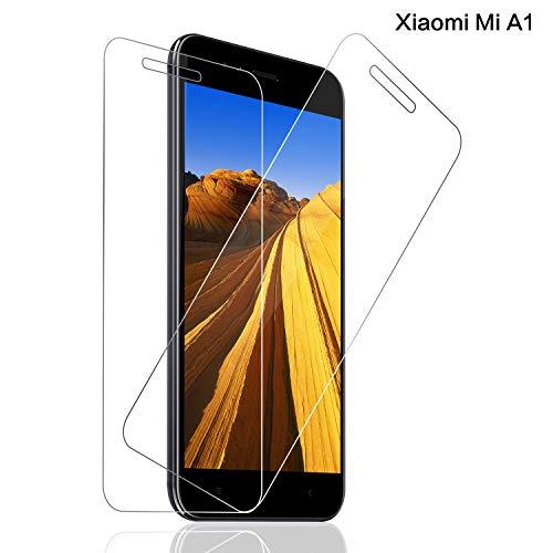 Panzerglas für Xiaomi Mi A1 Schutzfolie, [2 stück] 9H Festigkeit Panzerglasfolie, 3D Touch, Anti-Kratzer Schutzglas, Blasenfreie Transparent, Xiaomi Mi A1 Bildschirmschutzfolie [Einfache Installation]