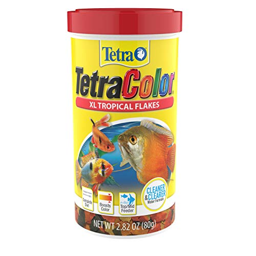Tetra 16265 Color Tropical Flakes with Natural Color Enhancer, 2.82-Ounce