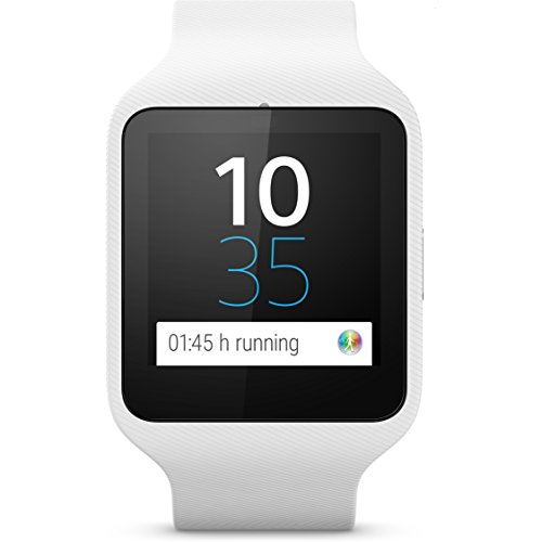 Sony SmartWatch 3 SWR50 (1,6 Zoll LCD-Display, 1,2-GHz-Quad-Core-Prozessor, Android Wear) weiß