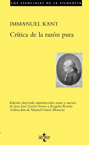Crítica de la razón pura (Filosofía - Los esenciales de la Filosofía)