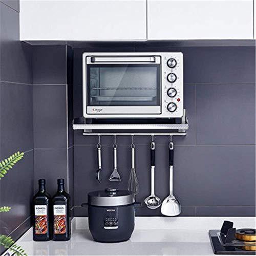 Equipo para el hogar Estante de cocina Cocina Estante para horno microondas Horno montado en la pared Olla arrocera Ahorro de espacio de acero inoxidable 304 para el hogar (Color: Como se mues