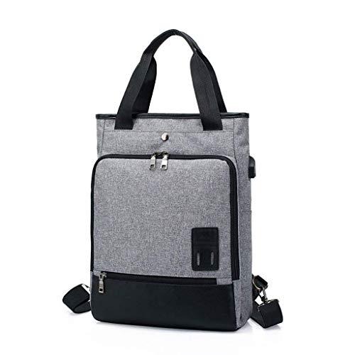 XYZMDJ Grijs Business Travel Laptop-rugzak, waterdichte aktetas Fit Laptop Computer werkplek Schoolrugzak voor dames en heren