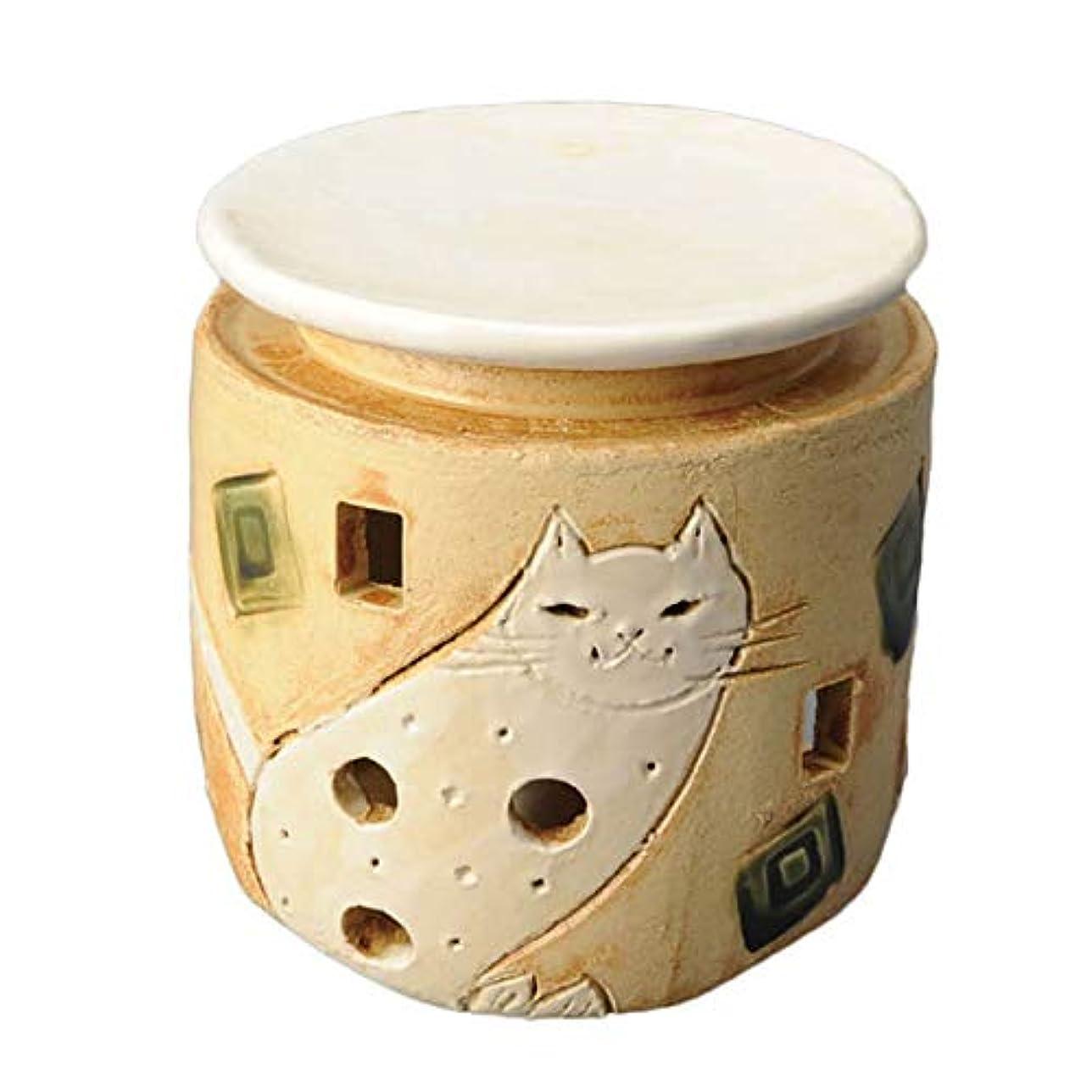 れる話をするレプリカ手造り 茶香炉/白猫 茶香炉/アロマ 癒やし リラックス インテリア 間接照明